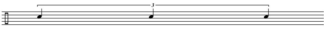 Triplet Quarter Notes